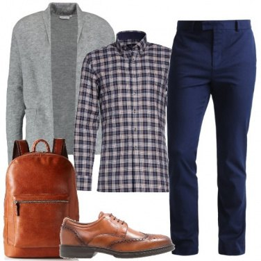 Outfit Con lo zaino al lavoro