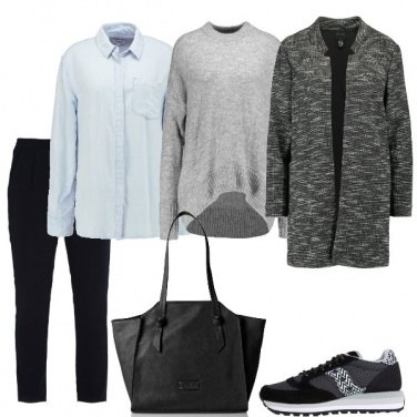 Outfit Pantalone classico e sneakers