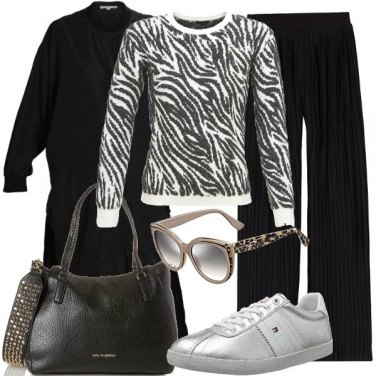 Outfit Animalier e borchie quotidianamente