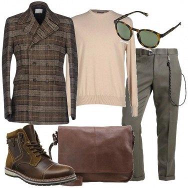 Outfit Il giaccone a quadri