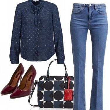 Outfit Blu e rubino