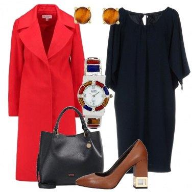 Outfit Cappotto rosso fiamma
