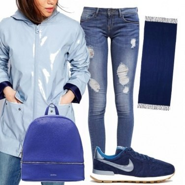 Outfit Rainy day in blue