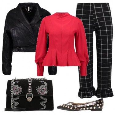Outfit Il nero e il rosso