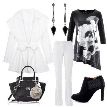 Outfit Bianchi papaveri