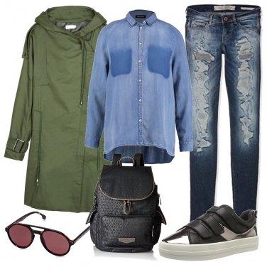 Outfit Parka verde