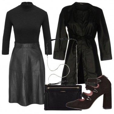 Outfit Vestito multimateriale