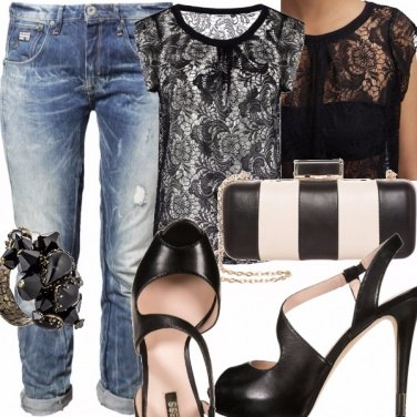 Outfit Pizzo e Jeans