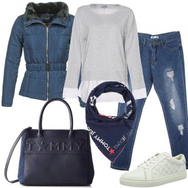 Outfit Borsa e foulard abbinati