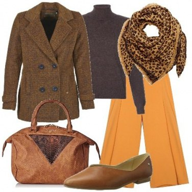Outfit Il foulard animalier