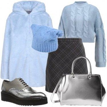 Outfit Azzurro e argento