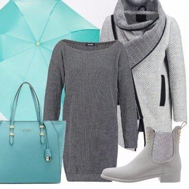 Outfit Pioggia e jelly boots!
