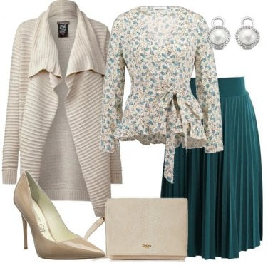 Outfit Camicetta in fantasia floreale