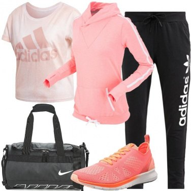 Outfit Palestra in rosa
