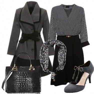 Outfit Il foulard animalier