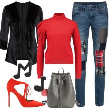 Outfit Speciale in rosso