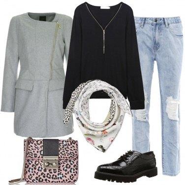 Outfit Il foulard fantasia