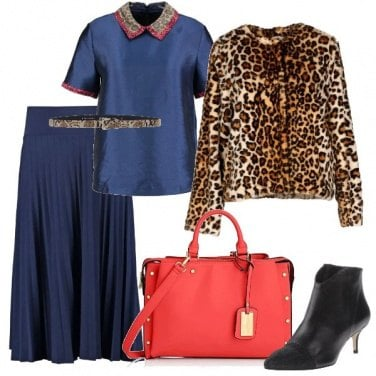 Outfit Animalier sofisticato