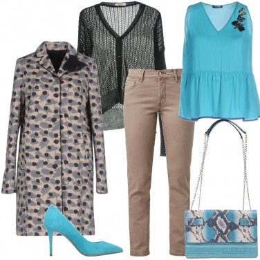 Outfit Animalier turchese