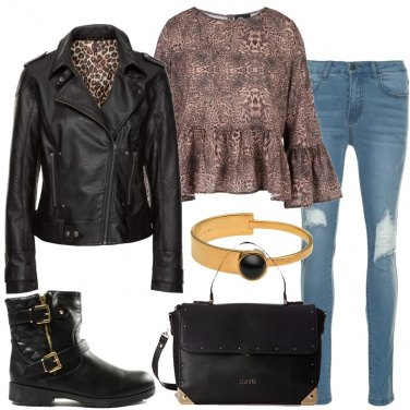 Outfit Rock e animalier