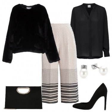 Outfit Il panatalone cropped bianco