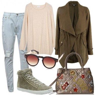 Outfit Borchiette solo sulle scarpe