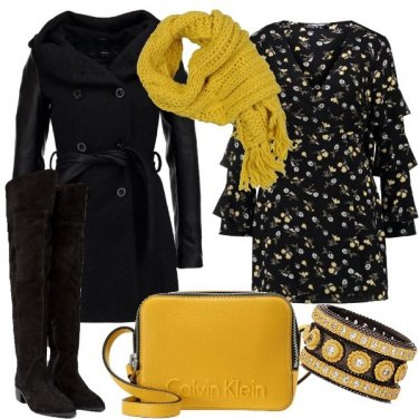 Outfit Spunti in giallo e cuissardes