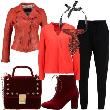 Outfit Metti una serata in arancio