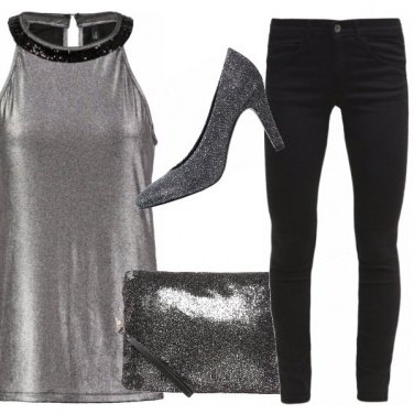 Outfit Silver night