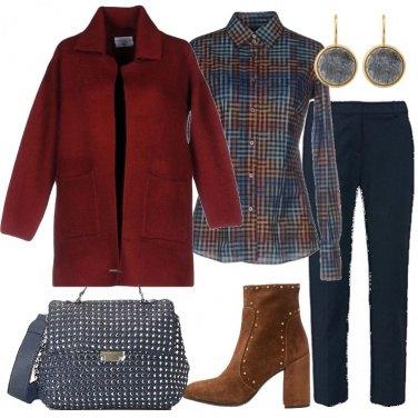 Outfit Il cappotto in lana cotta
