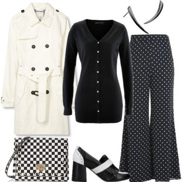 Outfit Mix and match in bianco e nero