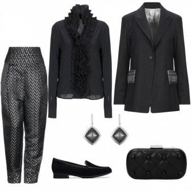 Giacche, blazer e mantelle senza tasche nere   Tendenze