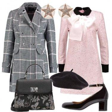 Outfit Mix di pattern Bon Ton