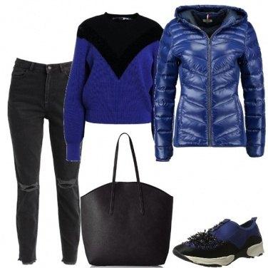 Outfit La sneakers con i brillantini