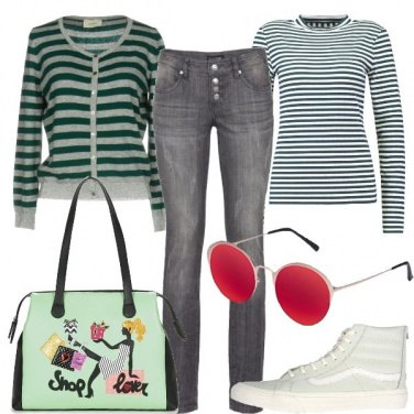 Outfit Righe a colori