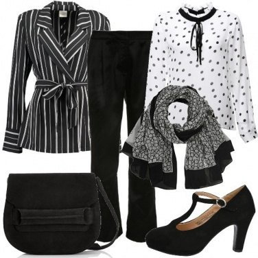 Outfit Fantasie in bianco e nero