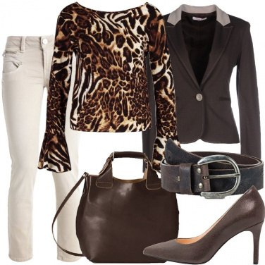 Outfit Un tocco animalier