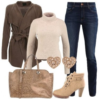 Outfit Jeans e cardigan
