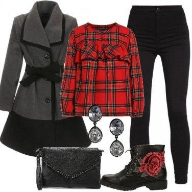 Outfit Stivaletti con fiore