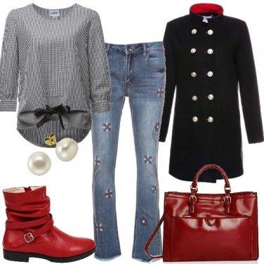 Outfit Blusa a quadretti Vichy