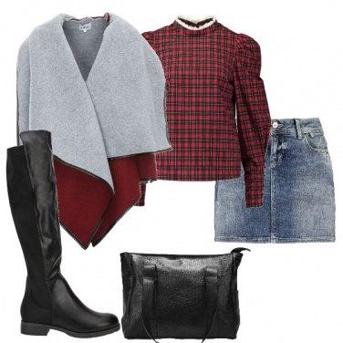 Outfit La camicetta tartan