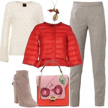 Outfit Il piumino rosso