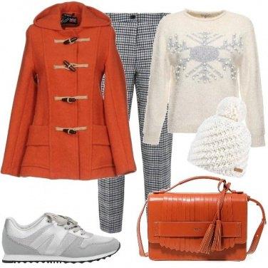 Outfit Il montgomery arancio