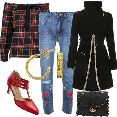 Outfit La rosa sui jeans