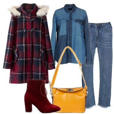 Outfit Tartan e denim