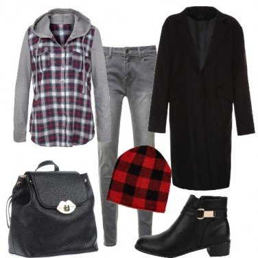 Outfit Tartan urbano