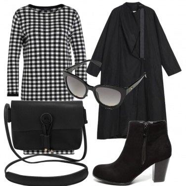Outfit Vestito bianco e nero