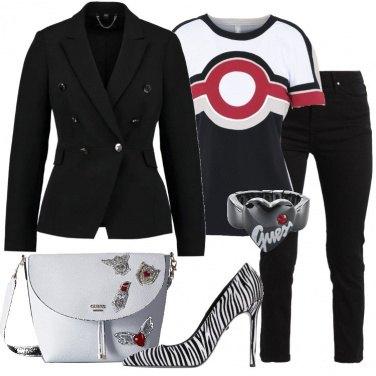 Outfit Bianco e nero fantasioso