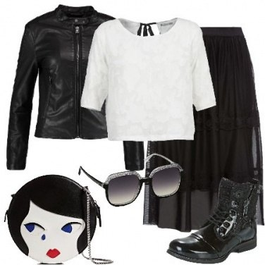Outfit Biancaneve rock