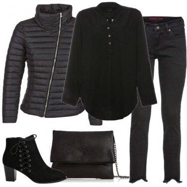 Outfit In nero di giorno